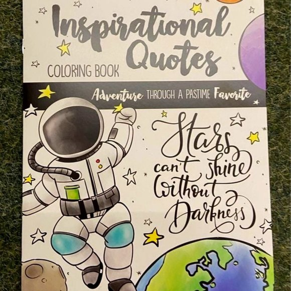 Inspirational quotes adult coloring book NEW